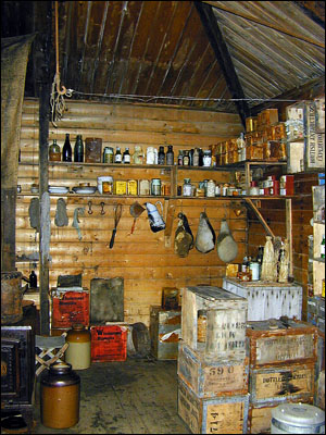 Interior of Cape Royds hut