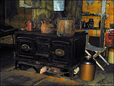 Iron stove in Cape Royds hut
