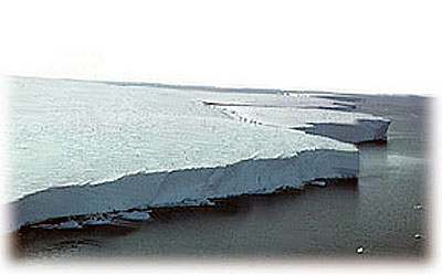 Edge of the Ross Ice Shelf