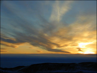 Sunset over McMurdo Sound