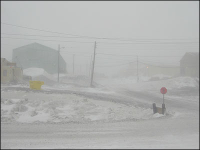 McMurdo in a condition two storm