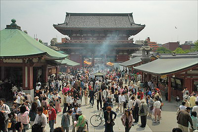 Sensoji Temple - Hozomon, Main Gate
